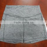 Anti-Shrink Comfortable 88% Polyamide12% Spandex Grey Women Sport Boxer Brief