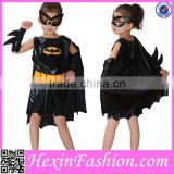 Fast Delivery Hot sale Girls Black Bat Kids Party Costume NO MOQ