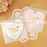 Fashion style love you printing greeting cards heart shape creative design invitation card greeting card for valentine gifts