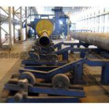 Roller conveyor pipe shot blasting machines