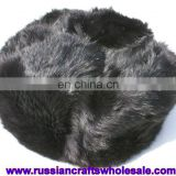 Russian Hat Natural Rabbit Fur Warm Winter Dress Ethnic Folk Art and Crafts Wholesale, Russia