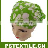 Fresh green flower design cotton hair bands