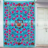 decorative wall hanging suzani embroidered bed sheet bed cover
