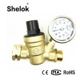 2018 Hot Sell Adjustable Brass Water Pressure Regulator With Gauges