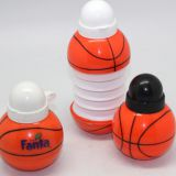 basketball football plastic PE foldable Telescopic water bottle cute ball bottle