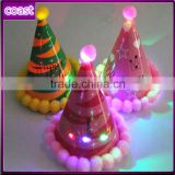 fashion cheap christmas led light up fancy green cone party paper hats                                                                         Quality Choice