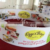 folding pop up round hanging display rack hanging banner for exhibition
