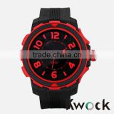 Hip Hop Big Case Rubber Band Fashion Men's wrist Watch                                                                         Quality Choice