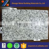 decorative aluminum panel with faux marble stone grain