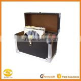 30LP Faux Leather LP Record carry Case,black Vinyl lp flight case,OEM black leather DJ Flight case record box