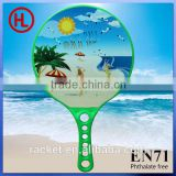 summer plastic beach rackets,beach paddle,beach bats with pvc ball