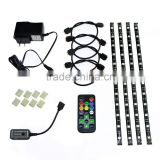 Full Kit Set Plug & Play SMD5050 5M 300 LED RGB Light Strip Tape 24 key Remote controller + DC12V USA adapter