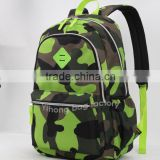professional simple design camo backpack bag manufacrurers China for boys teenage