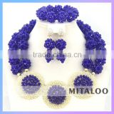 Mitaloo Purple Beads Necklace Jewelry Sets Young Girl Earring Jewelry Set Customized Costume Jewelry MT0002