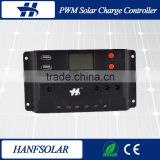 China Original Design 10A PWM Charge Controller,PWM Solar Charge Controller 12v 24v auto LCD Display