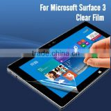 Mobile phone accessory clear screen protector for Microsoft Surface3 tablet PET screen film