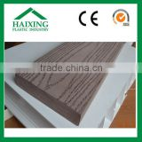 wood plastic composite exterior wall cladding pvc decking CE,SGS,ani-UV for flooring wood plastic