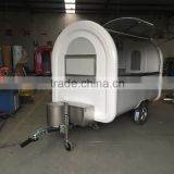 7.6*5.5ft white food cart trailer mobile food cart beach food truck hot dog Hamburg ice cream traction cart Provide free 3 d des