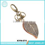 Vintage Bulk Leaf Shape Keychain Lanyard Leather Wholesale Key Ring