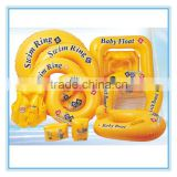inflatable beach items set, baby set/vest/boat & arm bands & kickboard & swimring                                                                         Quality Choice