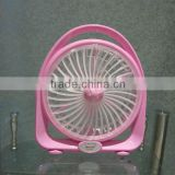Best Price 6W Li-ion Battery Operated Chargeable Emergency 8inch Mini Fan with 1.7m Alligator Clip for Home/ School Use