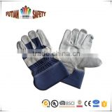 FTSAFETY CE certified cowhide split leather safety working hand gloves full palm glove                                                                         Quality Choice