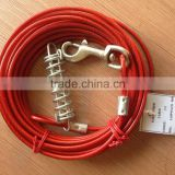 7x7 3.18mm/4.76mm PVC coated steel wire rope