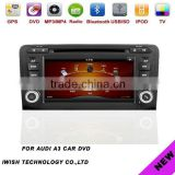 double dins 7inch iwish Android 4.0 car video for Audi A3 with steer wheel control
