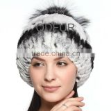 QD70090 Womens Russian Rabbit Fur Hat in Bucket Fur Hats