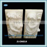 Marble wall ornament with elegant human carvings