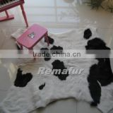 Luxury 100% genuine Baby Cow Skin Rug for home decoration