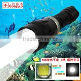 GOREAD Y88 High bright rechargeable XML-T6 5 mode 10W diving flashlight