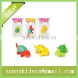 Cheap plastic wind up toy wind up animal capsule toy