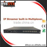 DCM701 Up to 450ch ip streamer dvb ts ip multiplexer with 8*ASI and 120 ip inputs