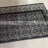 Stationery wholesale from China office organizer black embossing decorative metal mesh desk magazine tray