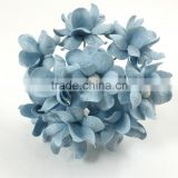 Baby Blue, Small Handmade Mulberry Paper Flower, Wedding Party, Scrap-booking Crafts Pastel