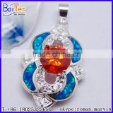 925 Sterling Silver Created Opal And Garnet Diamond Jewelry Pendants And Charms
