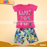 Made in ningbo factory super quality casual kids summer clothing sets