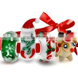 925 Sterling Silver Lampwork Glass Christmas Bead 4 Charm Set Big Brand Charm Bracelet Compatible Christmas Lampwork Glass Beads