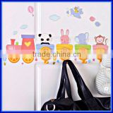 Decorative plastic wall hooks for hanging clothes, unique wall towel hook hanging hook coat hook for home