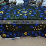 Jaipuri Print Suzani Embroidered Bed Cover Custom Design/ Drop Shipping /Hotel Bedding Set/Comforter Cover/Bed Sheet