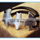 stamped Batman Bracelet - Perfect gift for men dad husband Fathers