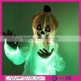 2015 led light luminous halloween boutique pumpkin mask clothing