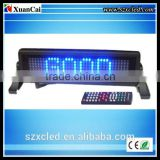 CE RoHS wholesale alibaba express wireless control 12v message moving scrolling advertising led car rear window digital display