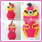 despicable me crochet minion set photo prop crochet minion beanies and diaper cover