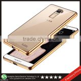 Samco Crystal Clear Electroplating Edge Soft TPU Back Cover For OPPO R7 Plus Case