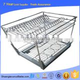 High qualitykitchen cabinet sliding wire basket, wire baskets in pantry cabinet, drawer slide wire baskets