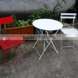 metal bistro folding chair and table