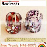 Fashion punk animal print ring with rhinestone