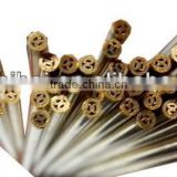 Multi Hole EDM Brss Electrode Tube EDM Brass Pipe 2.5mm x 400mm